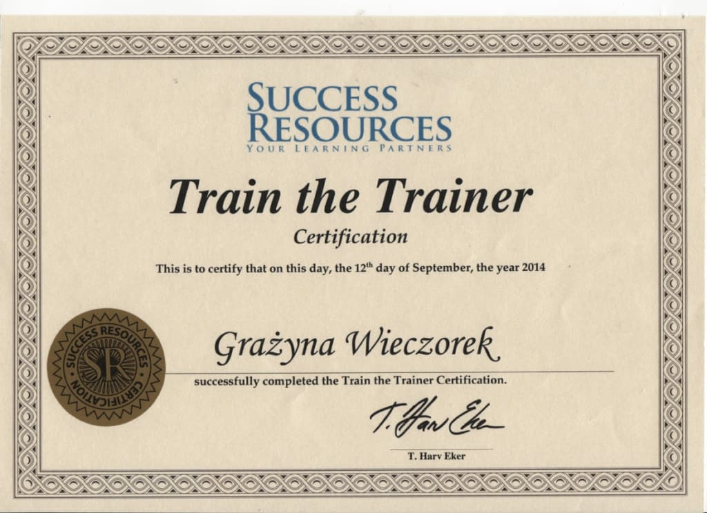 Train The Trainers - Grazyna Wieczorek